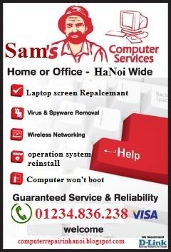 sam's computer repair service in hanoi vietnam